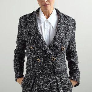 Zara textured shirt blazer